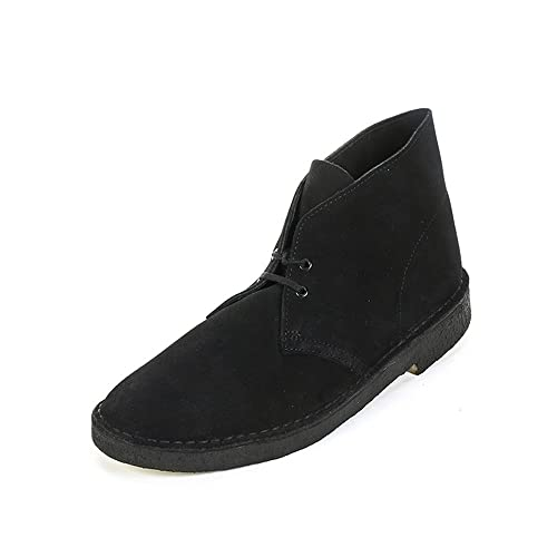 Clarks Mens Desert Boot Desert Boots Black Schwarz (Black Suede) Size: 39 EU