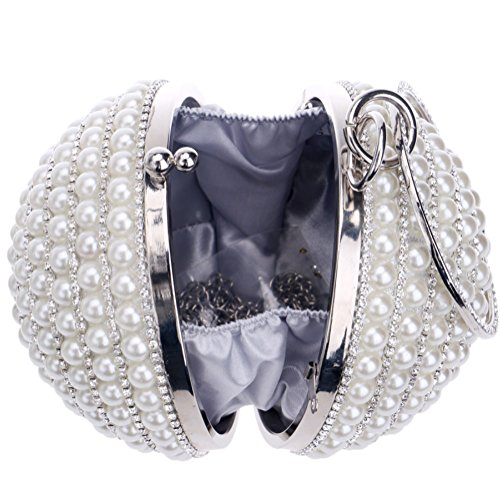 SHISHANG round ZYXCC dress Gold bag fashion Women's bag pearl handbag evening wAxr5wnqT7