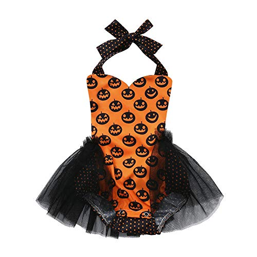 Londony Clearance Sale ❤️Toddler Kids Baby Pumpkin Girls Halloween Outfits Clothes Romper Jumpsuit