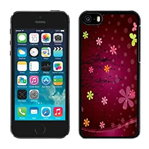 New Personalized Custom Designed For iPhone 5C Phone Case For Abstract Snowflakes and Floral Phone Case Cover