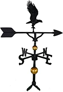 product image for Montague Metal Products 32-Inch Deluxe Weathervane with Black Full Bodied Eagle Ornament