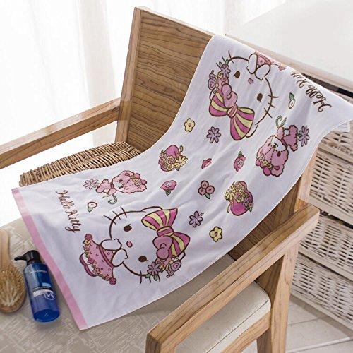 SH Hello Kitty Towel Children's Cotton wash Towel Soft high Absorbent - Hello Kitty Towels Bath