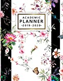 Academic Planner 2019-2020: Weekly Monthly Academic Planner Calendar Organizer with At A Glance Vision Boards, Course Schedule, Notes, To-do's, Inspirational Quotes - Seamless Florel Print