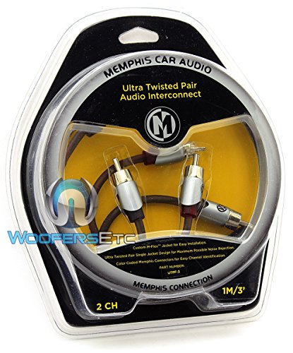 - Memphis UTPF-3 Ultra Twisted Interconnect 3 Foot RCA Cable