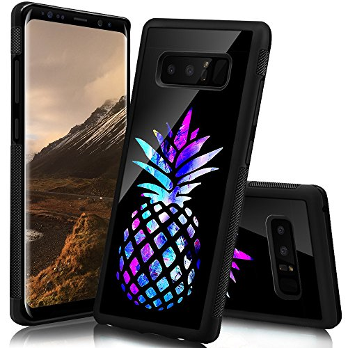 (Ademen Samsung Galaxy Note 8 Case, Design Hard PC Soft Silicone Protective Durable Shockproof Case For Samsung Galaxy Note8 (Colored Pineapple Samsung Galaxy Note 8 case))