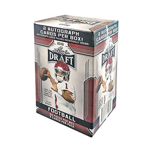 - 2019 Leaf Draft Football 20ct Retail Blaster Box