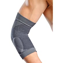 Synergy Therapeutic Braces and Supports Knitted Golfer's Elbow Support and Brace with Silicone Gel Pads