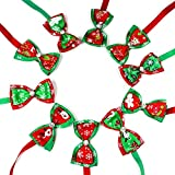 Dog Cat Puppy Bow Ties Bowties Collar, Foonee Cute Dog Pet Hair Accessories for Christmas Festival Cat Dog Ties Dog Grooming Accessories(10pcs)