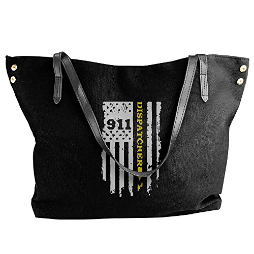 Black Gold Tote Dispatcher Thin Flag Handbag Large Shoulder Canvas Large Women's 911 Capacity Line Bags Hqw8Cxq6