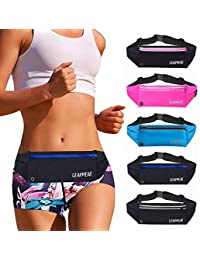 Running Waist Belt Fanny Pack Phone Holder for iPhone XR XS MAX 8 Plus Runner Pouch Bag Men Women for Workout Walking Fitness Exercise Gym Athletes Hiking