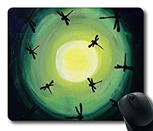 Corlorful Dragonfly Flower Masterpiece Limited Design Oblong Mouse Pad by Cases & Mousepads