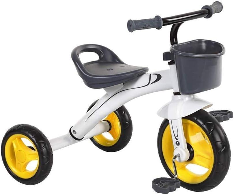Triciclo de pedales para niños, juguetes de triciclo, montaje de estabilidad y durabilidad de la bicicleta Children's Walker, el coche de equilibrio para bebés de 2-3-6 años es adecuado para juguetes