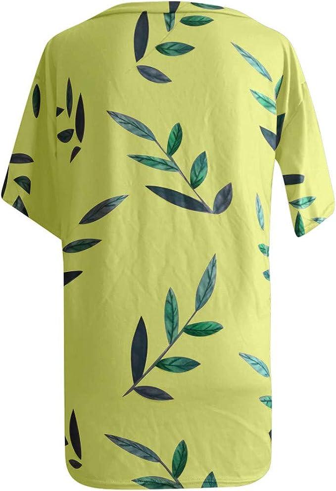 Jerferr 2020 - Camiseta de verano para mujer, cuello en V: Amazon.es: Ropa y accesorios