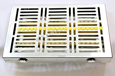 Premium German 1 Each Dental Surgical Autoclave Sterilization Cassettes for 20 Instruments-Detachable LID Double Botton Type