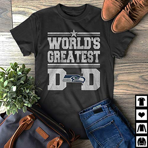 (World's Greatest Dad Seattle-Seahawks Father's Day Fan Gift T-Shirt)