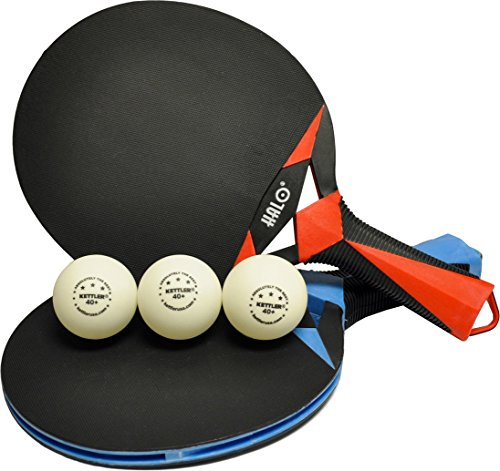 Kettler HALO X Indoor/Outdoor Table Tennis Bundle: 2 Player Set (2 Rackets/Paddles and 3 Balls) by Kettler