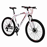 Cyrusher XF300 27.5″ Hardtail Mountain Bike MTB Shimano 24 Speed 19″ Frame Aluminum Frame Quick Release Wheels Dual Disc Brakes Suspension Fork White Red Review