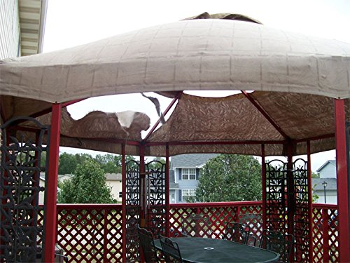 Garden Winds Replacement Canopy For Hexagon Trellis Gazebo