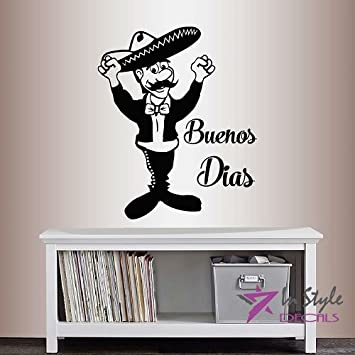 Amazon.com: Wall Vinyl Decal Home Decor Art Sticker Buenos Dias ...