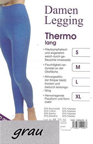 Damen-Leggings Thermo, Größe S, grau