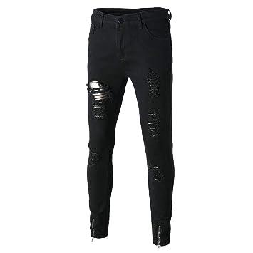 be22e45d9f Hombre pantalones Vaqueros largo rotos