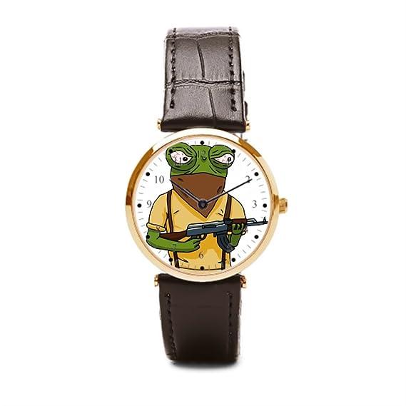 Un ejército CS: GO correa de piel Para Hombre muñeca reloj huelga Csgo piel reloj caja: Amazon.es: Relojes
