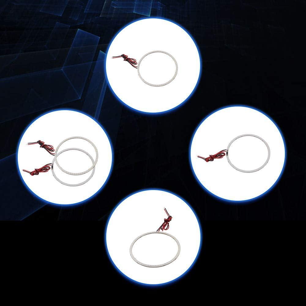 Qasim 1 pair of COB LED Angel Eyes Motorcycle Car Halo Rings for DRL Fog Light Headlight 110MM 81SMD DC12V Red