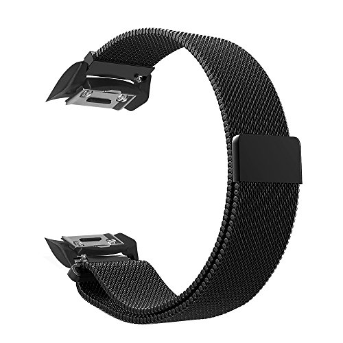 Fintie for Gear S2 Watch Band [Small], [Magnet Lock] Milanese Loop Adjustable Stainless Steel Replacement Strap Bands for Samsung Gear S2 SM-R720 / SM-R730 Smart Watch - Black