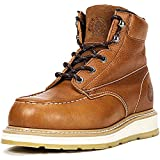 ROCKROOSTER Men's Work Boots, Soft Toe, Safety Water Resistant Leather Shoes, Width EE-Normal
