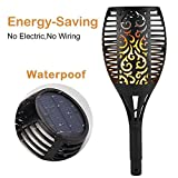 bamett Solar Lights Outdoor TiKi Torch LED Garden Light Waterproof Flame Torch Flickering Light for Landscape Decoration Patio,Dusk to Dawn Auto On/Off lantern(1)