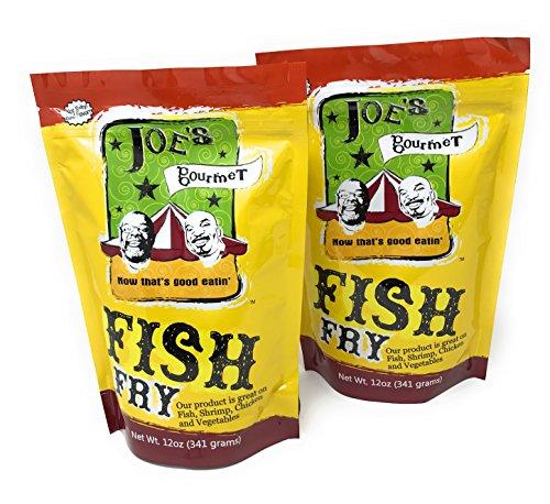 Joes Gourmet Fish Fry Seasoning Mix - As Seen On Shark Tank (Original, 2-Pack) (Tank Shark Fish)