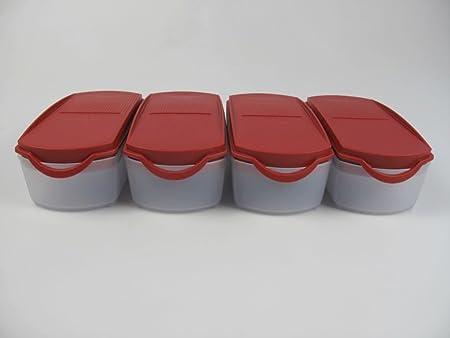 Tupperware Eid genossen Plus 350 ml rojo secar tarro (4) Tarro ...