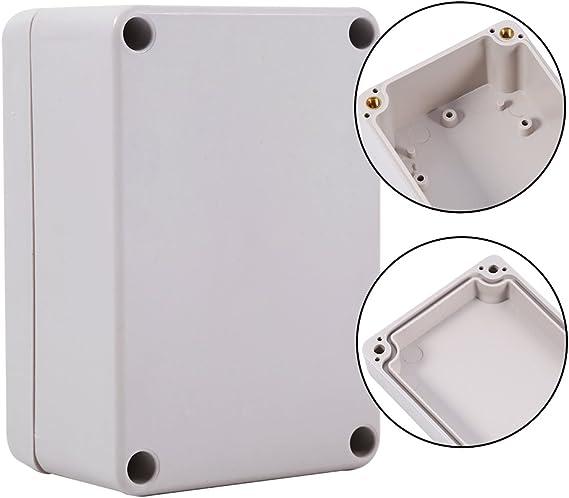 Cajas de conexiones del bloque del conector de la prenda impermeable del color blanco 1pc Caja al aire libre del recinto de la prenda impermeable 65*60*35mm