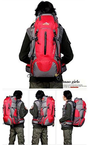 "Fulltime (TM)–�?0L al aire libre impermeable plegable bolso de hombro bolso playa bolsas de equipaje viaje, hombre mujer Infantil, negro, 60 x 30 x 20 cm (23.6""H x 12"" W x 7.9"" L) rojo"