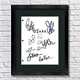 Ozark TV Autographed Signed Reprint 8.5x11 Script Framed 13x15 Jason Bateman, Laura Linney, Sofia Hublitz, Jason Butler Harner