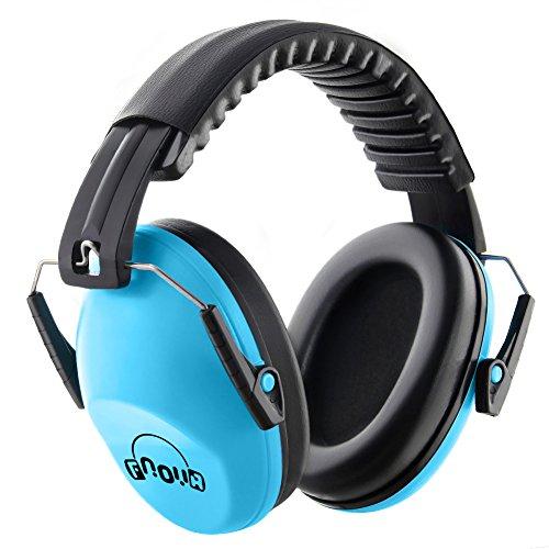 Niños orejeras /Fnova protección auditiva para los oídos,compacto y plegable,diadema ajustable,Producto ideal para protejer los oidos de los más pequeños ...