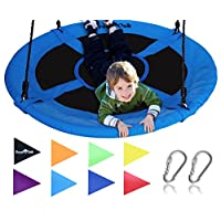 "Royal Oak Giant 40"" Saucer Tree Swing with Bonus Carabiners and Flags, 700 lb Weight Capacity, Steel Frame, Waterproof, Easy to Install with Step by Step Instructions, Non-Stop Fun!"
