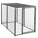Lucky Dog Modular Box Kennel w/ Roof and Cover (6'H x 10'L x 5'W); 207 lbs