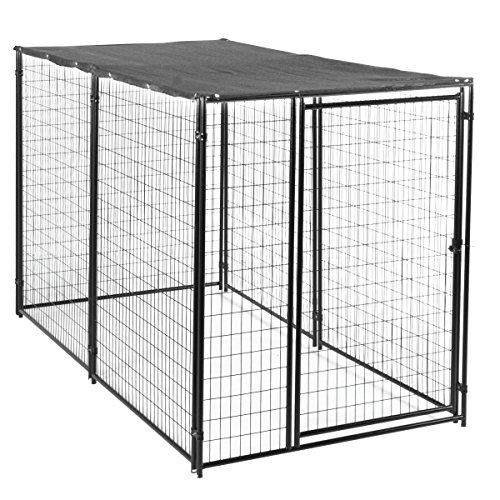 Lucky Dog Modular Box Kennel w/Roof and Cover (6'H x 10'L x 5'W); 207 lbs