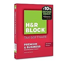 H&R Block 2015 Premium + Business Tax Software + Refund Bonus Offer - PC Disc [Old Version]