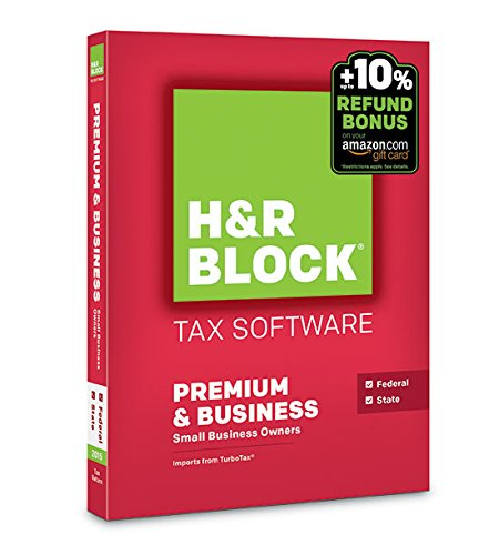 H&R Block 2015 Premium + Business Tax Software + Refund Bonus Offer - PC Disc (Old Version)