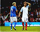 Niall Horan and Louis Tomlinson Signed - Autographed 1D One Direction Soccer 8x10 Photo - Guaranteed to pass PSA or JSA
