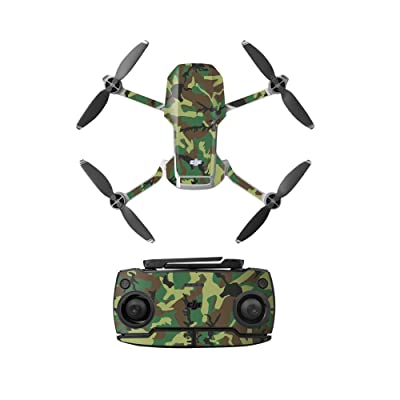 Anbee Waterproof Decal PVC Skin Decorative Stickers for DJI Mavic Mini Drone (Green Camouflage): Camera & Photo