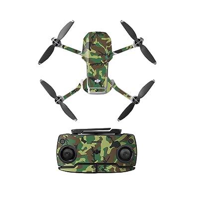 Anbee Waterproof Decal PVC Skin Decorative Stickers for DJI Mavic Mini Drone (Green Camouflage): Camera & Photo