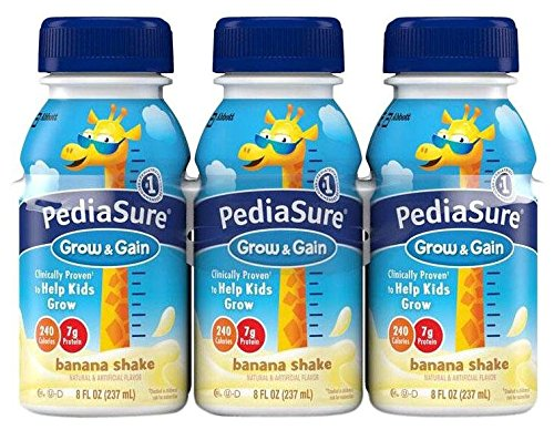 Pediasure Regular Nutrition Drink Bottles - Banana - 8 oz - 24 pk