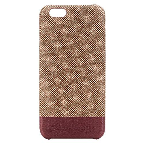 Phone Taschen & Schalen Für iPhone 6 Plus & 6s Plus Kreuz Texture Schutzmaßnahmen zurück Fall ( Color : Coffee )