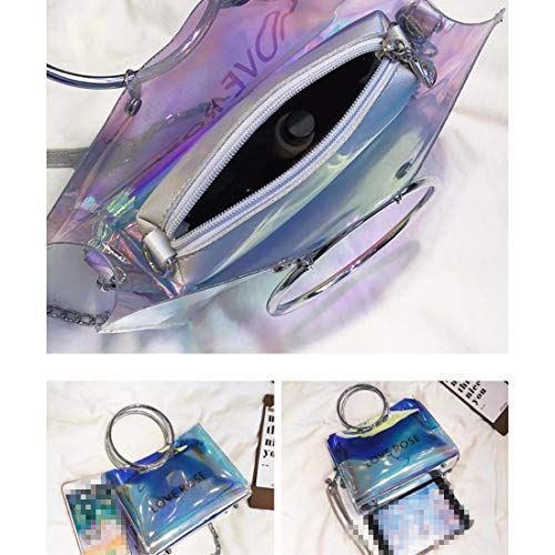 XKB chain summer ERLINGSAN crossbody Female transparent bag bag candy bag bag 8dd6g