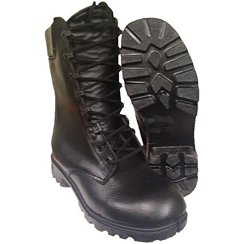 Originale Niederländische Armee Kampfstiefel schwarz Echtleder Stiefel Größe 41