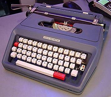 Máquina de escribir portátil Antares Capri operativo y como nuevo paquete original
