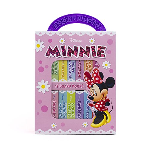 Disney Minnie Mouse 12 Board Book Block Library Set 9781450844093